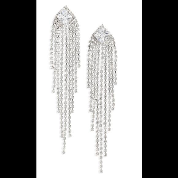Crystal Linear Drop Earrings BP. NWT